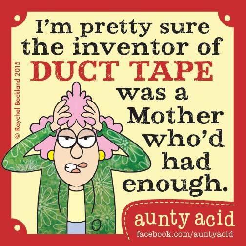 acid.. duct tape